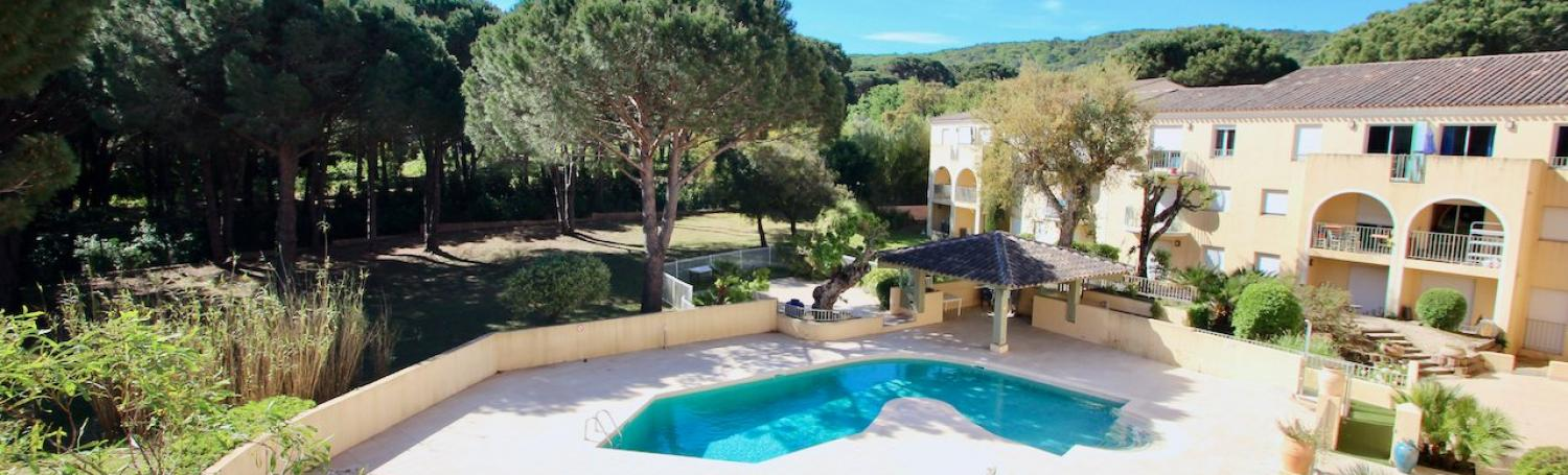 Saint Tropez - 2 km from the center - 3 bedr. app. in residence with swimming pool